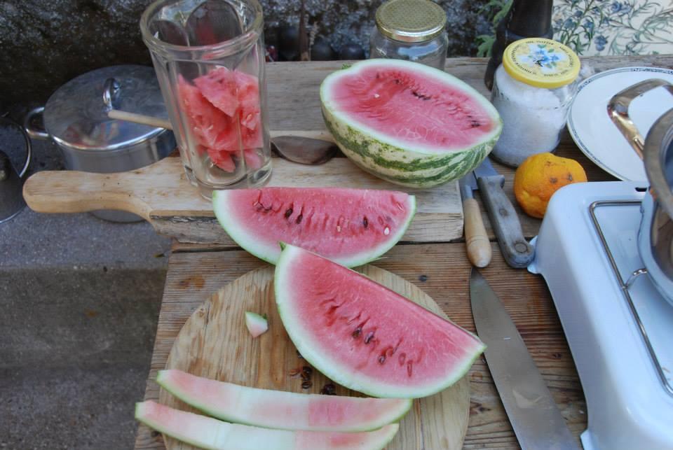 Man nehme eine Wassermelone oder sonst eine feine Melone...